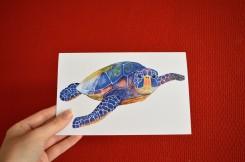 Gevouwen kaart turtle/ schildpad
