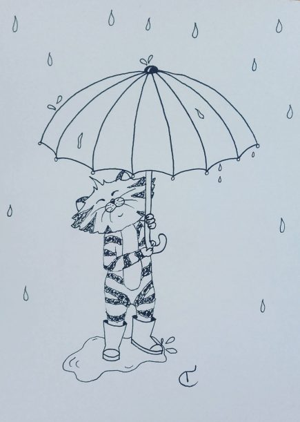 Standing in the rain, 2016