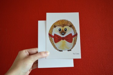 postcard hedgehog