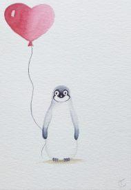 Aquarel pinguin 2017