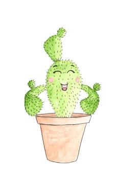 Cactus aquarel, 2017