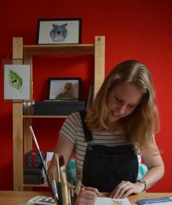 Tine Creates in studio
